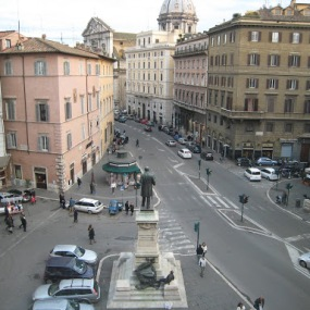 The view from my first apartment in Rome