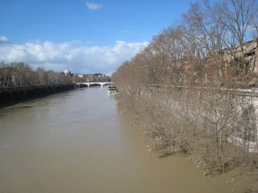The Tevere in flood mode