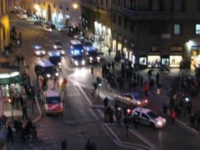 Carabineiri in action - Rome