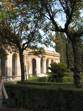 The gardens on top of the Aventine Hill