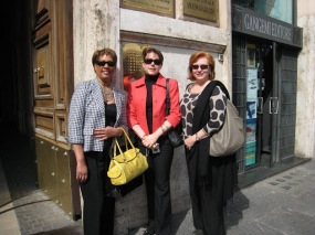 The girls ready for a day in Rome