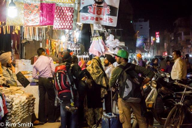 night scene outside the temple